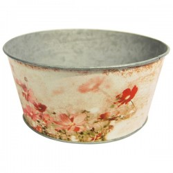 Tarrina de Zinc decorada 9 cms