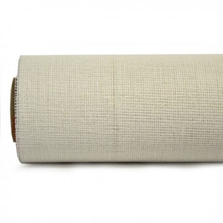 Rollo Fibra Natural 53cm x 9m - Blanco